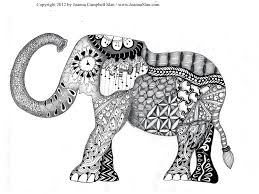 abstract elephant coloring pages adults free 6842 abstract