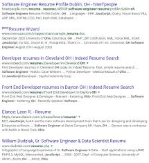 Sample Resume Of Software Developer by How To Do A Successful Google Resume Search