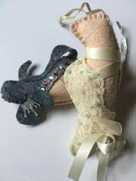felt ballet slipper ornament for nutcracker felt crafts