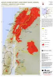 Snow Coverage Map Snow Cover Extent Over West Bank Israel Jordan Lebanon And