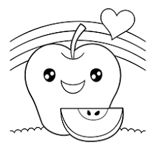 apple coloring pages for your little ones