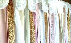 Gold Shimmer Curtains Sequin Curtains Glitter Curtains Silver Gold Shimmer 2 Panels