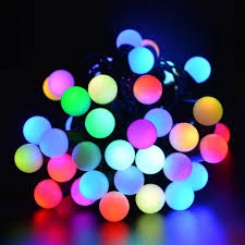 Ball Solar Lights - solar christmas lights outdoor christmas lights decoration