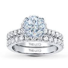 leo diamond ring leo bridal setting 1 ct tw diamonds 14k white gold jared the