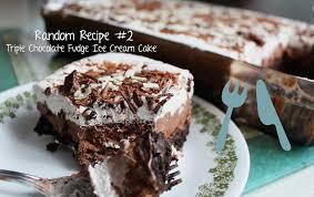 triple chocolate fudge ice cream cake random recipe 2 youtube