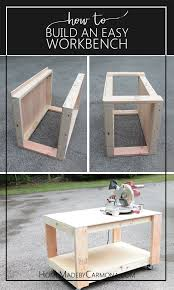 how to build a work table how to build an easy super sturdy workbench easy storage and