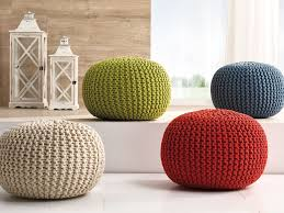 furniture cable knit pouf for home accessories and living room