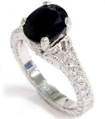 black sapphire engagement rings vintage black sapphire engagement ring