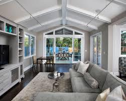 vaulted ceiling living room and kitchen pueblosinfronterasus