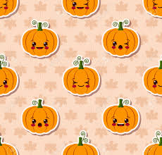 halloween phone background vector seamless pattern kawaii halloween design stock vector