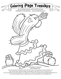 dulemba coloring page tuesday cactus dance