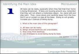 language arts a multimedia mini lesson for identifying the main idea