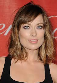 shoulder length hairstyle with long bangs best haircut style