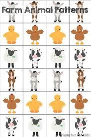printable animal activities farm animal patterns printable animal patterns farming and plays