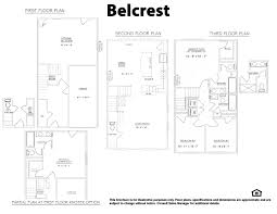 Lakeside Floor Plan Belcrest Floorplan New Homes Fredericksburg Va Townhomes At Lakeside