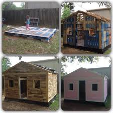 How To Build A Shed Base Out Of Wood by Pallet Playhouse Diy Pallet Playhouse Great Ideas U2026 Your