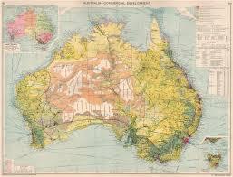 atlas map of australia australia commercial agruicultural minerals mining railway