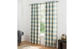 Asda Nursery Curtains Check Woven Lined Curtains Teal Home U0026 Garden George
