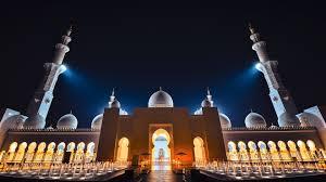 sheikh zayed grand mosque lighting at night abu dhabi united arab