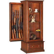 Building A Gun Cabinet American Furniture Classics Rta 10 Gun Curio Slider Cabinet