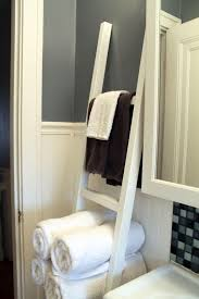 bathroom decorative ladder bathroom towel storage rack ideas