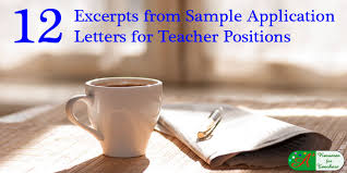 12 excerpts from sample application letters for teacher positions