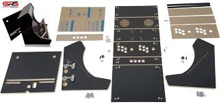 Cocktail Arcade Cabinet Kit Bartop Arcade Cabinet Kit Black Easy Assembly Hardware Plex