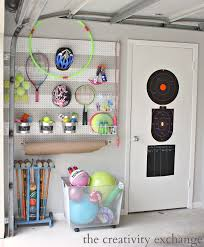 cool pegboard ideas diy garage pegboard storage for outdoor toys