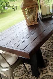 Patio Table Wood Diy Table Pottery Barn Inspired Shanty 2 Chic
