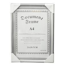 document frame silver diploma frame china manufacturer