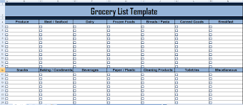 Excel List Templates Get Grocery List Template In Excel Microsoft Excel Templates