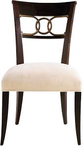cleo dining chair u2013 side by thomas pheasant 7842 baker furniture