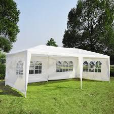 outsunny 10 u0027 x 20 u0027 gazebo canopy party tent w 4 removable window