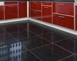 Black Sparkle Laminate Flooring Black Glitter Bathroom Floor Tiles Luxury Quartz Stone Midnight
