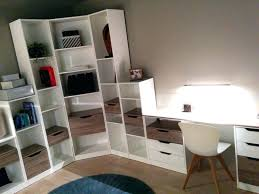 bibliothèque avec bureau intégré intérieur de la maison bibliotheque bureau integre design lapeyre