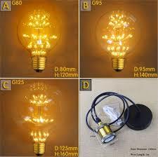 2300k 3w led tree e27 edison globe light bulbs g80 g95 g125 led