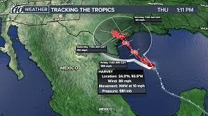 Mexico Hurricane Map National Hurricane Center Harvey Now A Hurricane Could Be U0027major