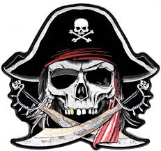 pirate skull and crossbones large pirate back patch with