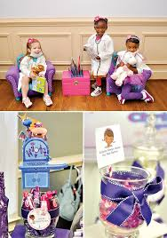 doc mcstuffins party ideas pink and purple doc mcstuffins party hostess with the mostess