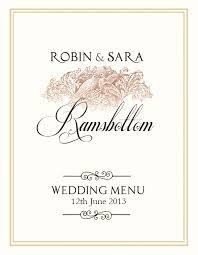 menu template wedding free wedding menu design photoshop templates on behance