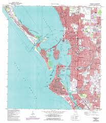 State Of Florida Map by Sarasota Topographic Map Fl Usgs Topo Quad 27082c5