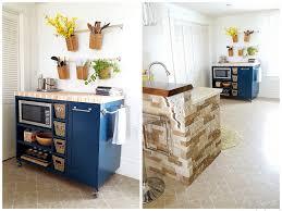 kitchen gorgeous diy kitchen island on wheels diy distressed diy