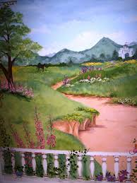 childrens painted wall murals cathie s murals castle wallace