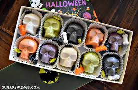 sugar swings serve some halloween skull cake bites no dipping