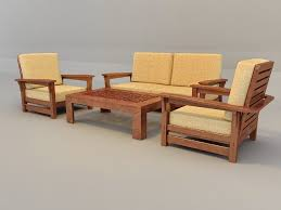 traditional sofa set with wood trim 3d model 3ds max files free