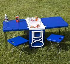 Folding Outdoor Table And Chairs Cooler With Fold Out Table And Chairs Mini Picnic Table Cooler