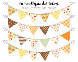 Banners Flags Pennants Fall Bunting Banners Party Flags Clipart Thanksgiving