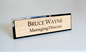 plaque de bureau personnalisé plaque signalétique de bureau personnalisé personnalisé gravé