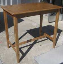 Ikea Bistro Table Uhuru Furniture Collectibles Sold Ikea Leksvik Pine Bistro