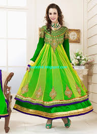 fancy frocks indian anarkali umbrella wedding brides bridal party wear fancy